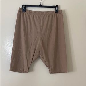 PrettyLittle Thing Nude Cotton Bike Shorts NWOT